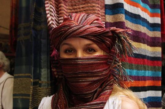 Linda Finková v typickém marockém šátku