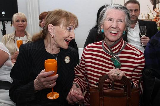 Meda Mládková (vpravo) se Soňou Červenou