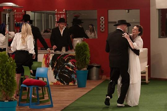 Novomanželský taneček Thomase a Zdeňky