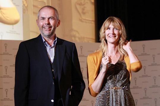 Laura Dern natáčela s Markem Ebenem pořad Na plovárně.