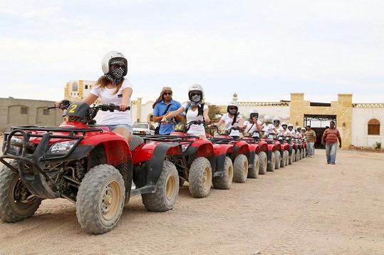 Krásným zážitkem pro ně byla jízda na motokárách.