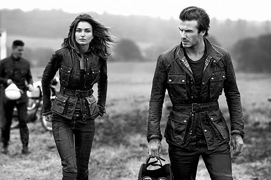 Andreea Diaconu s Davidem Beckhamem
