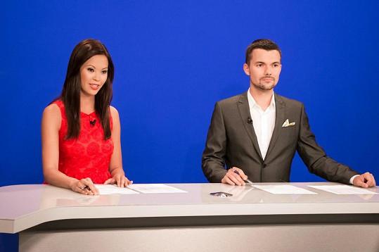 Monika Leová už zprávy moderuje s Tomášem Drahoňovským.
