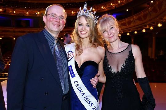 Gabriela Franková s rodiči