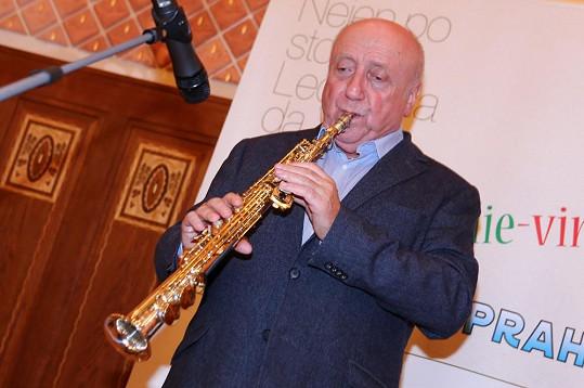 K poslechu i k tanci hrál Felix Slováček.