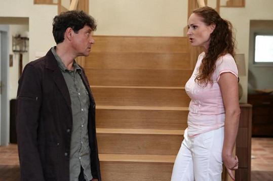 Pavel Kříž se s Markétou Hrubešovou setkal při natáčení po deseti letech.