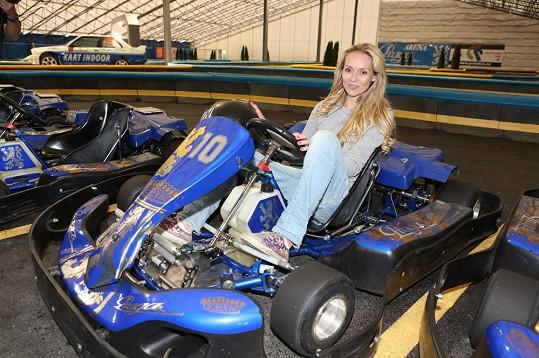 Martina Gavriely je opatrnou řidičkou i v motokáře.