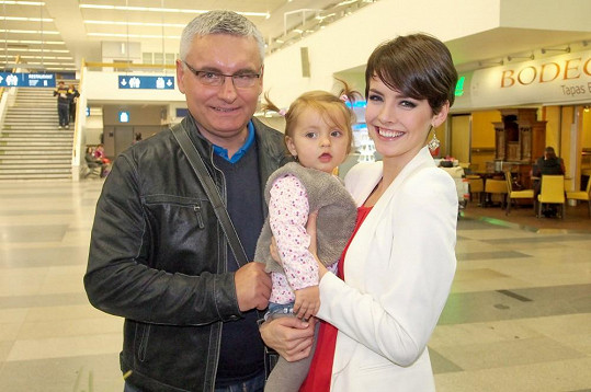 Gabriela Kratochvílová s tatínkem a neteří