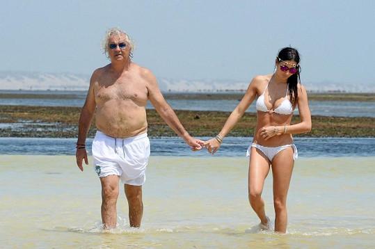 Flavio Briatore s manželkou