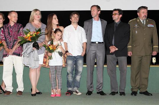Při představení herců v kině Lucerna