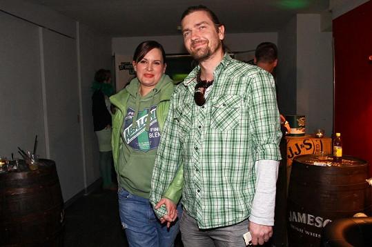S manželem Petrem Čadkem, který už také není tak hubený jako kdysi.