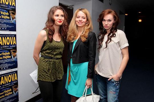 Alžběta Bartošová, Lucie Černíková a Kamila Nývltová prošly konkurzem na roli mladé Maty Hari.