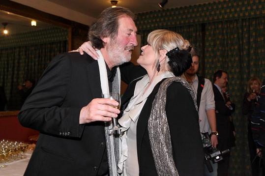 Bolka ráda viděla i jeho exmanželka Chantal Poullain.