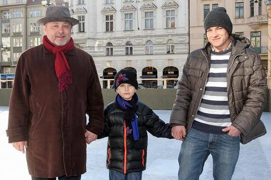 Michal Pavlíček slavil narozeniny se syny.