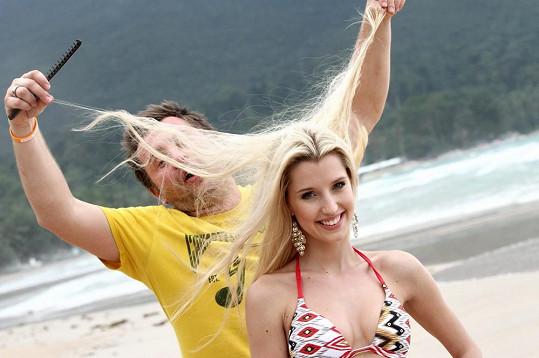 Takto se na pláži vytvářel vlasový styling.