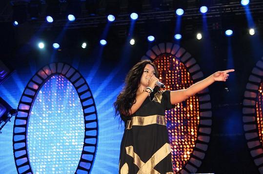 Ewa na koncertu ve Štětíně.