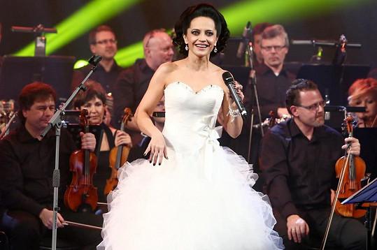 Lucie Bílá na svém vánočním koncertě.