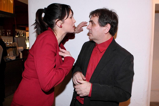 Tereza Kostková s manželem Petrem Kracikem