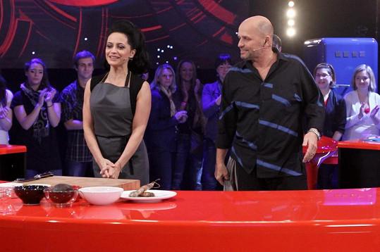 Lucie Bílá vařila se Zdeňkem Pohlreichem.