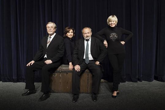 Kvartet v podání Zdeňka Žáka, Veroniky Freimanové, Rudolfa Hrušínského a Jany Švandové
