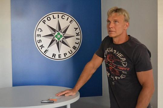 Martin Maxa na policii