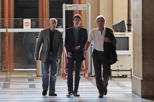 Alain-Fabien Delon s otcem na snímku z roku 2010