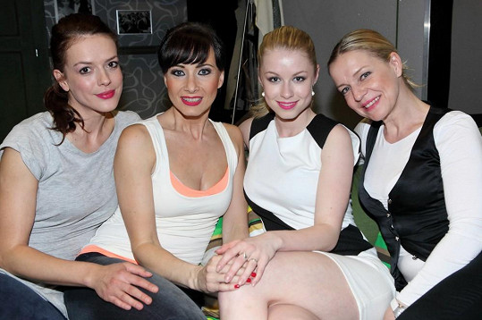 Šinkorová s hereckými kolegyněmi