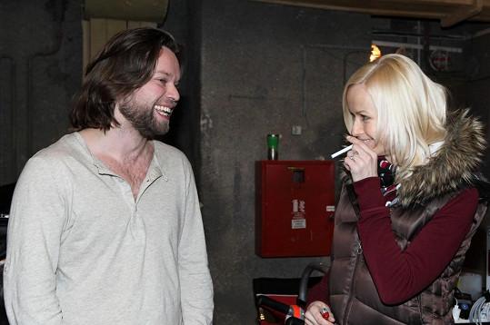 Krajčo s novou přítelkyní Karin Babinskou, která film režírovala.