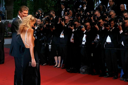 David Hasselhoff a Hayley Roberts v Cannes.