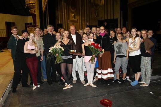 Denně zkouší Fantoma opery, který má v září premiéru.
