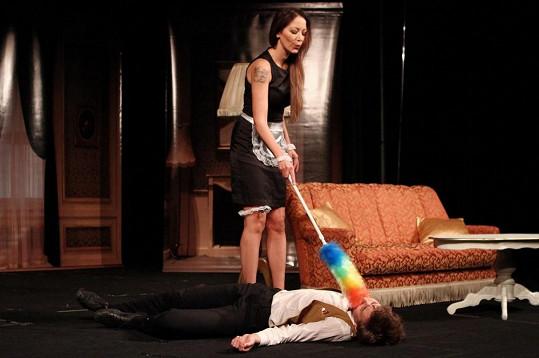 Agáta si v povídkové inscenaci zahraje i uklízečku.