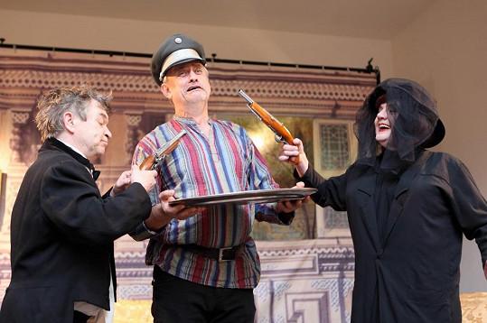 Protagonisté hry Roman Skamene, Richard Tesařík a Mojmír Maděrič.