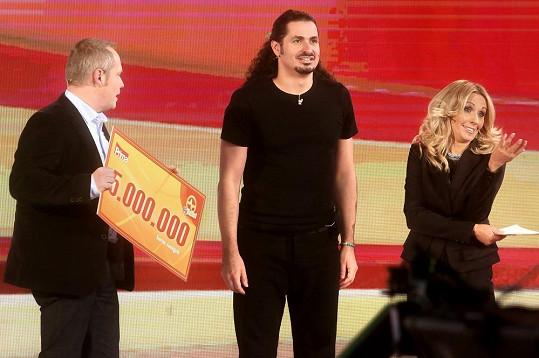 Vlado vyhrál pět miliónů.