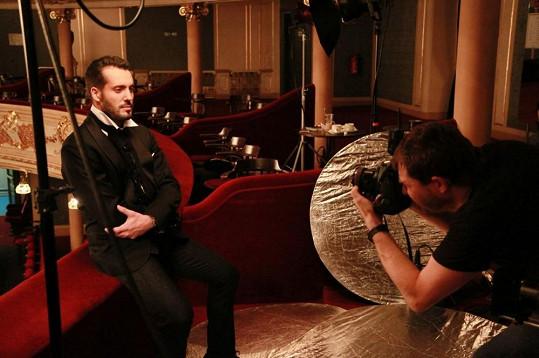 Snímky si vzal na starost dvorní fotograf Hudebního divadla v Karlíně David Kraus.