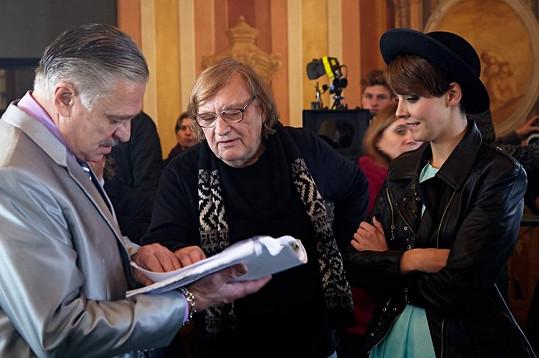 Gábina Kratochvílová s Vítem Olmerem nad scénářem