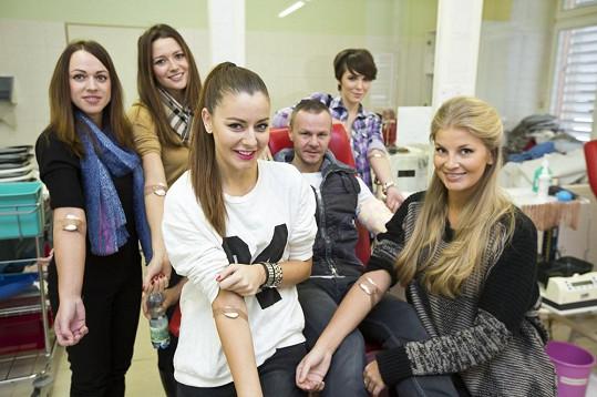 Tereza Chlebovská jako jediná z hvězd nesměla darovat krev.
