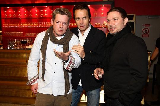 Kolář se svými kolegy Jankem Ledeckým a Alešem Hámou