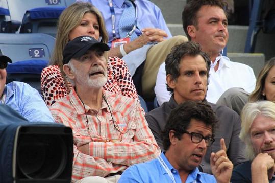 Sean Connery (83) si nenechal ujít tenisový turnaj US Open.