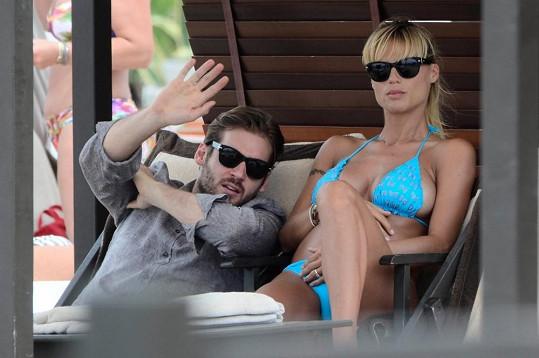Michelle se snoubencem Tomasem Trussardim