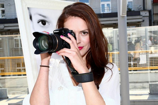 Herečka Andrea Kerestešová se opět představila jako fotografka a uvedla svou v pořadí již druhou výstavu.