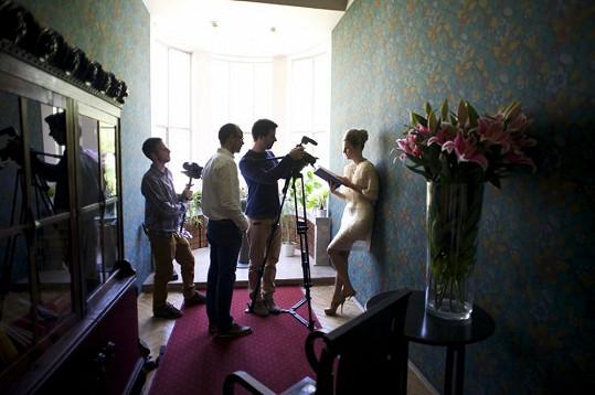Filmování příběhu s Veronikou