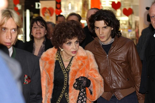Gina Lollobrigida ve Vídni.