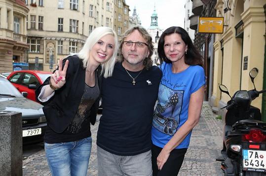 Jiřina Jandová s rodiči.