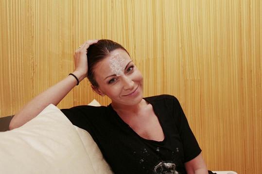 Takhle vypadá Gábina s minimem make-upu...