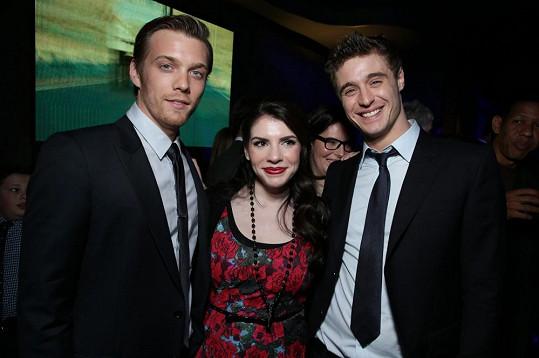 Autorka předlohy k filmu Stephenie Meyer si společnost mladých herců užívala.