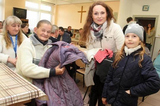 Markéta Hrubešová s sebou vzala i svou dceru Christel.