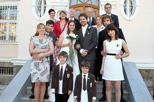 Klára Jandová a Viktor Limr alias Helča s Martinem byli prvními novomanželi v Cestách domů.
