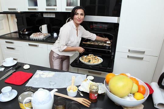 Anife Vyskočilová v kuchyni