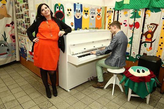 Andrea Kalivodová zazpívala na charitativní akci.