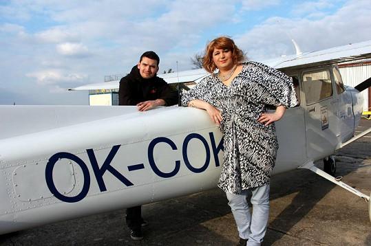 Krupská byla z letu i pilota Honzy nadšená.